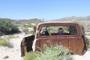 Photo by: Nina Lauducci Isla San Jose old Salt Mine Rusted Truck