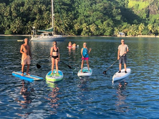 Group shot - sunset paddleboard