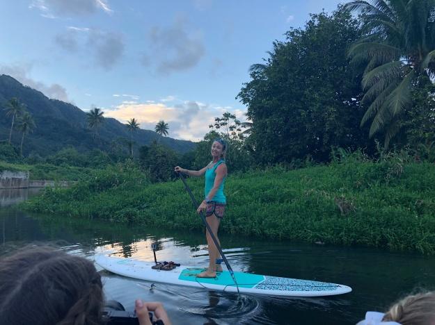 Josie goofing on Paddleboard