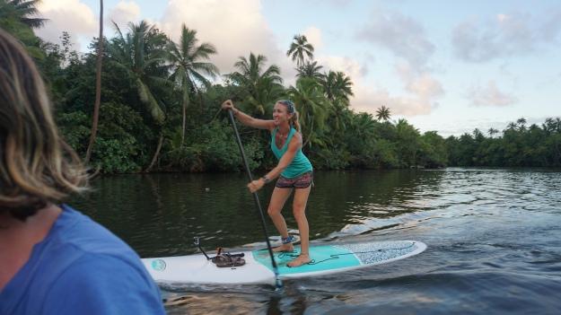 josie on paddleboard
